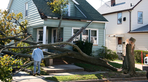 home wind damage